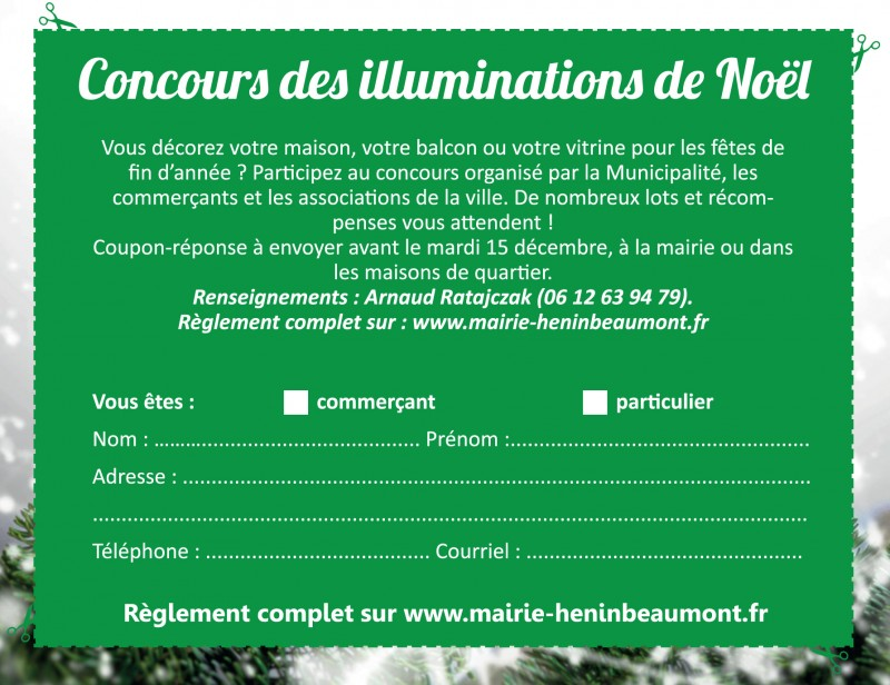 concours illuminations inscriptions